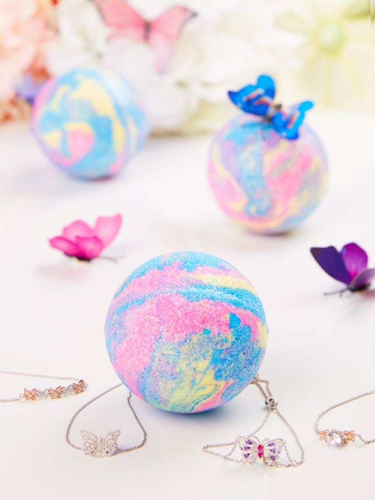 Butterfly Bloom Bath Bomb - Butterfly Bracelet Collection