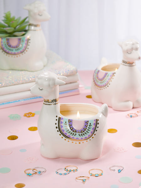Llama Candle - Turquoise Ring Collection