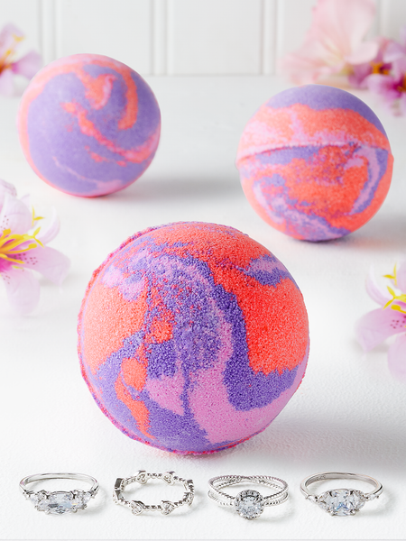 Sunset Swirl Bath Bomb - Ring Collection
