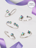 Alexandrite Birthstone Candle - Adjustable Ring Collection Made With Crystals From Swarovski®