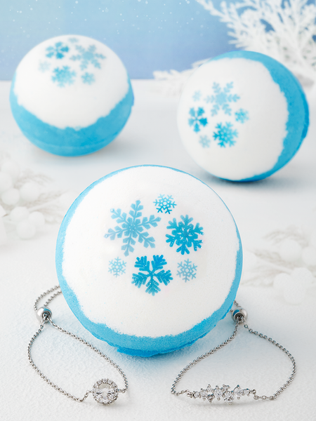 Blue Frosty Bath Bomb - Bracelet Collection
