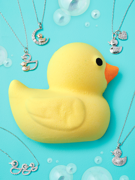 Rubber Ducky Bath Bomb - Duck Necklace Collection