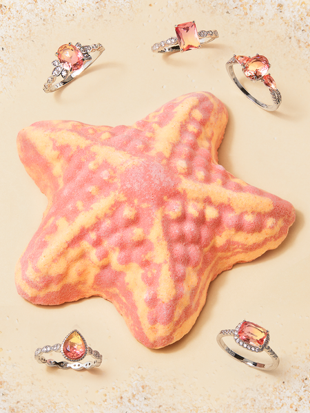 Starfish Bath Bomb - Coral Ring Collection