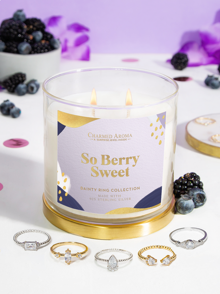So Berry Sweet Candle - Dainty Ring Collection
