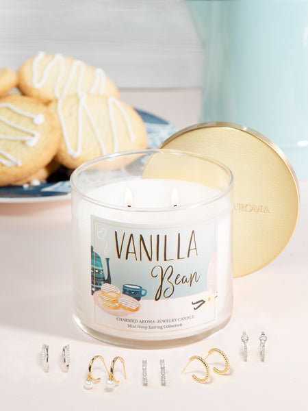 Vanilla Bean Candle - Classic Hoop Earring Collection