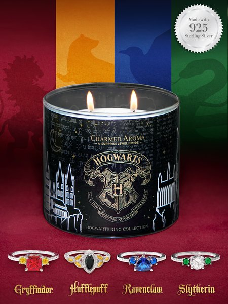 Harry Potter Hogwarts Candle - Hogwarts House Ring Collection