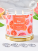 Pink Grapefruit Candle - Classic Ring Collection