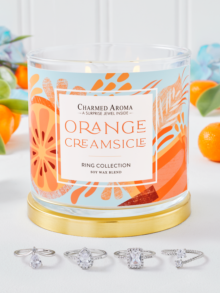 Orange Creamsicle Candle - Ring Collection