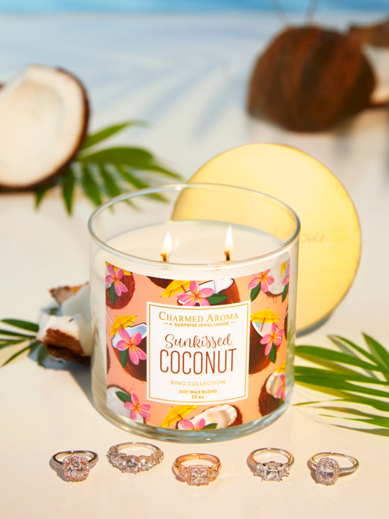 Sun-Kissed Coconut Candle - Classic Ring Collection