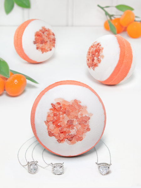 Tangerine Bath Bomb - Necklace Collection