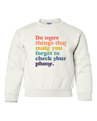 Do More Things - Rainbow Youth Sweatshirt