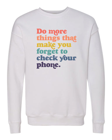 Do More Things - Rainbow Adult Sweatshirt