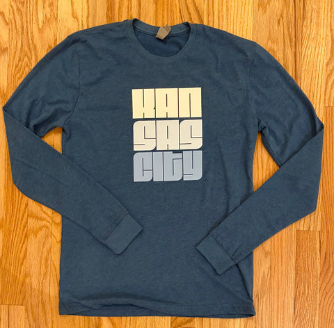 Kansas City Blue Mono Long Sleeve