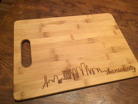 Skyline Bamboo Cutting Board