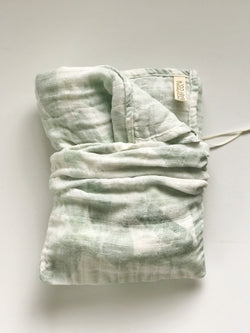 Organic Sweat Pea Gauze Swaddle | Banana Leaf - The Sustainable Baby Co.