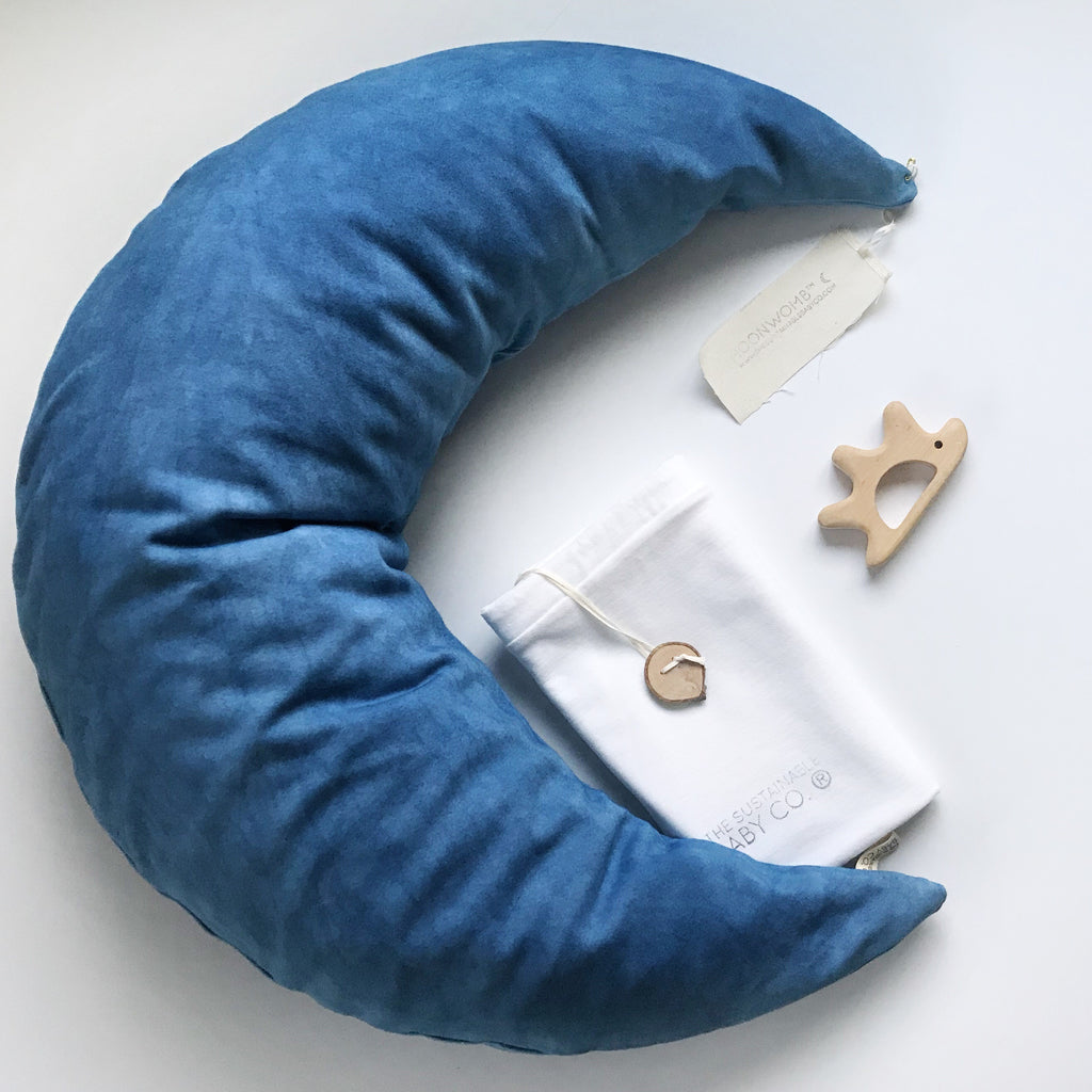 MoonWomb™ ☾ + Botanical Collection {Indigo}  Organic cotton cover - The Sustainable Baby Co.