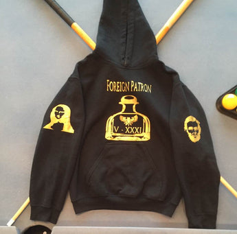 Black & Gold Foreign Patron Hoodie.