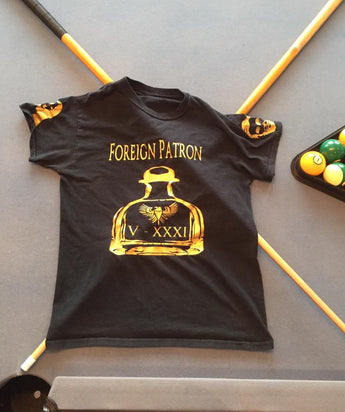 Black & Gold Foreign Patron T-shirt