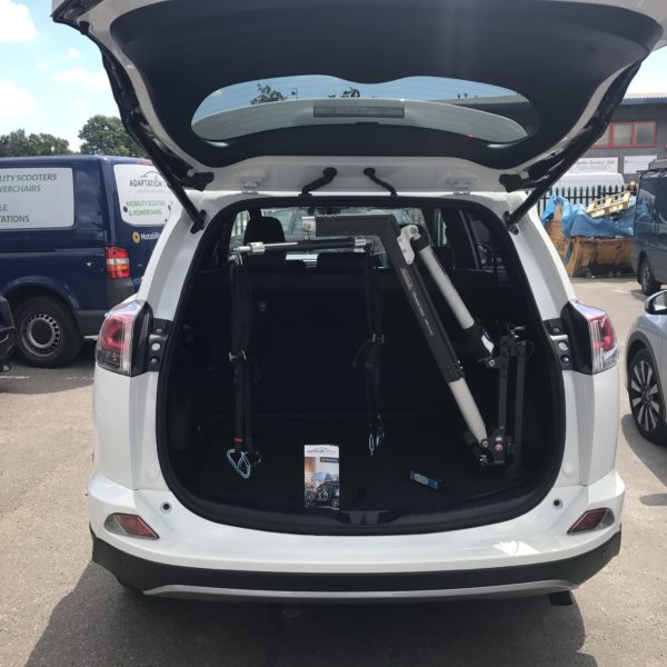 Olympian Hoist fitted to new RAV4 Hybrid in Ruislip