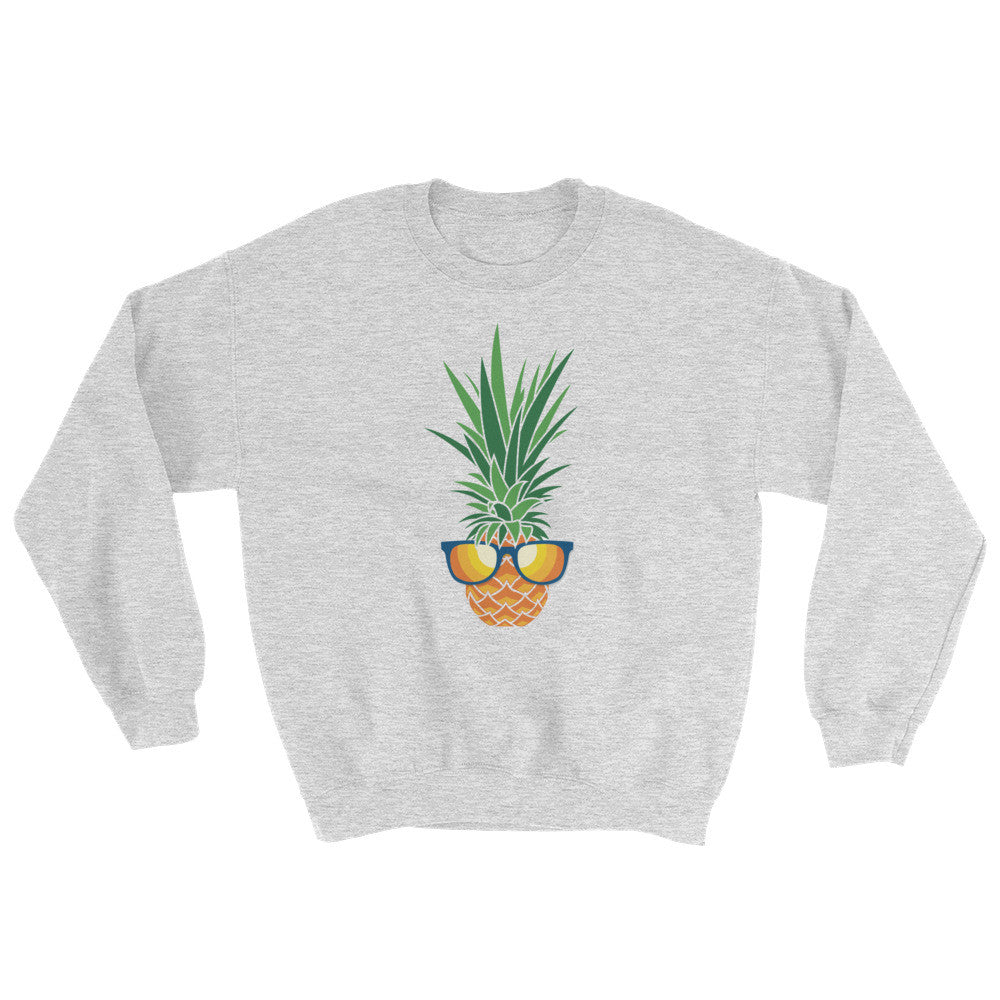 Stunna Shaded Piña on Grey Gildan 18000 Heavy Blend™ Crewneck Sweatshirt