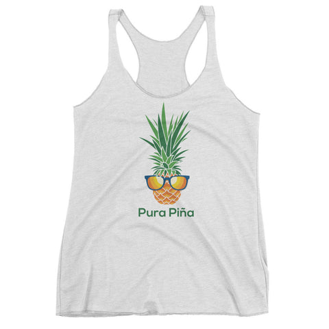 Pura Piña (MORE COLORS) on Next Level 6733 Ladies' Triblend Racerback Tank