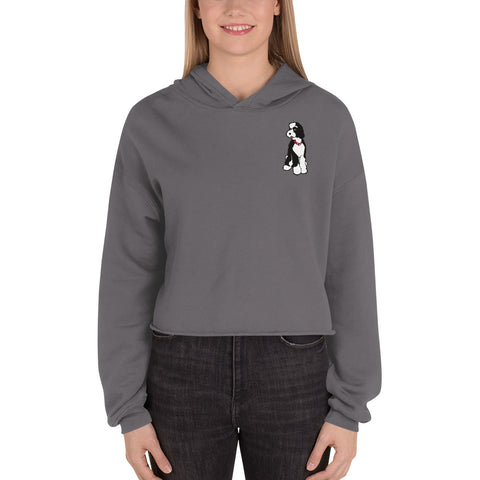Ladies' Doodlesson Crop Hoodie - Bella + Canvas