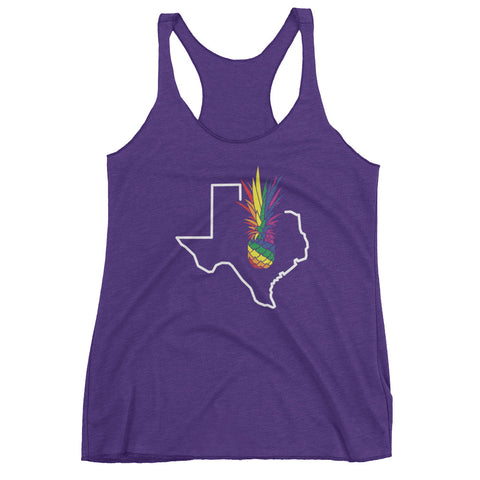 Austin Pineapple PRIDE on Next Level Triblend Racerback Tank