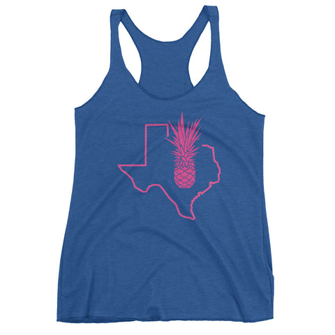 Pink Texas Piña (MORE COLORS) on Next Level Racerback