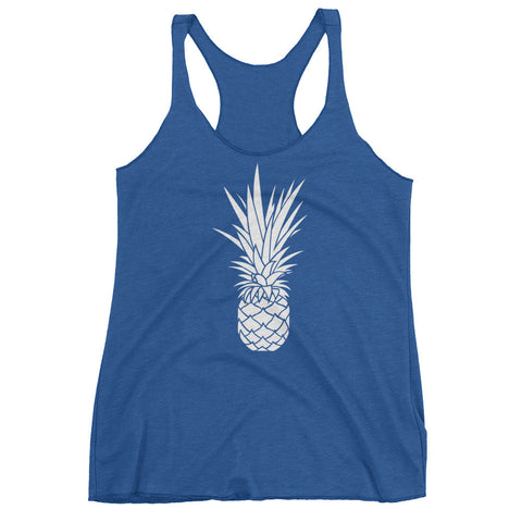 White Piña (MORE COLORS) on Triblend Racerback Next Level