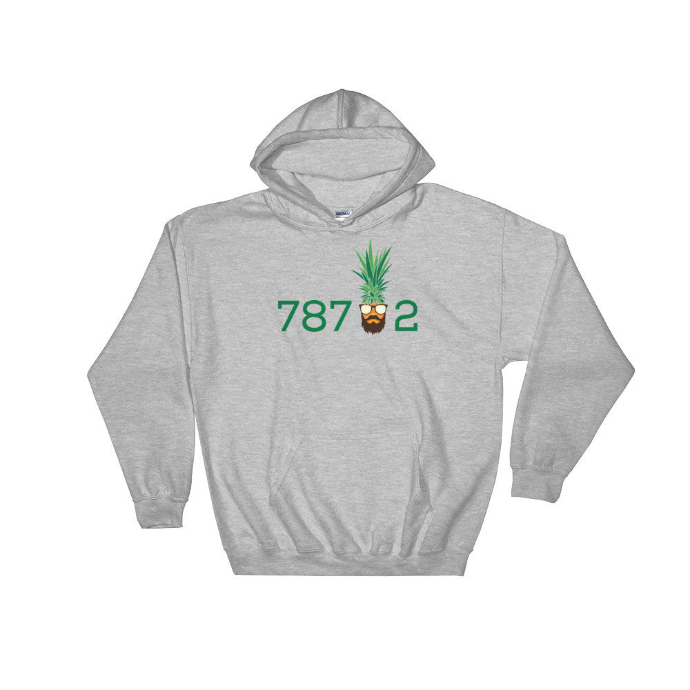 Bearded Pineapple on 78702 (MORE COLORS) Gildan 18500 Heavy Blend™ Hoodie