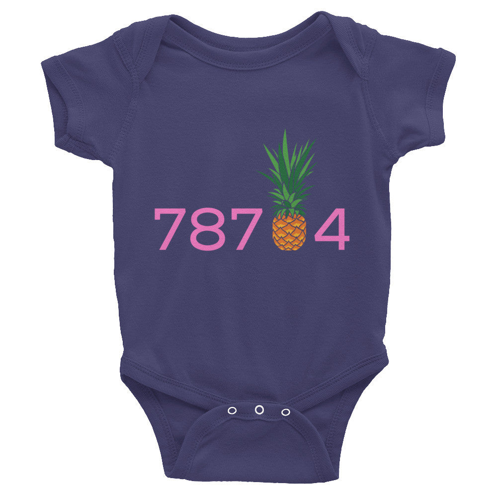 78704 Pineapple on American Apparel 4001 Onesie