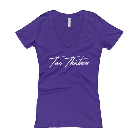 Two Thirteen on Next Level Ladies' Deep V Softwash (MORE COLORS)
