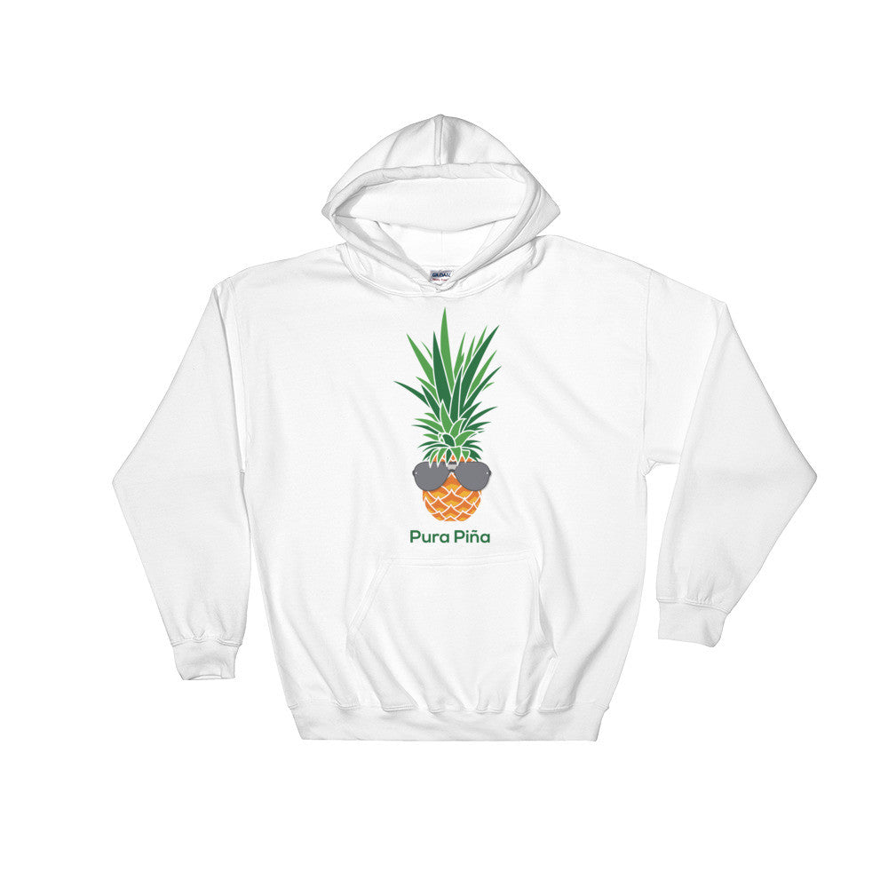 Pura Piña on White or Grey Gildan Heavy Blend™ Hooded Sweatshirt