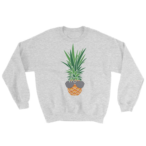 Shaded Chill Pineapple on Grey Gildan Heavy Blend™ Crewneck