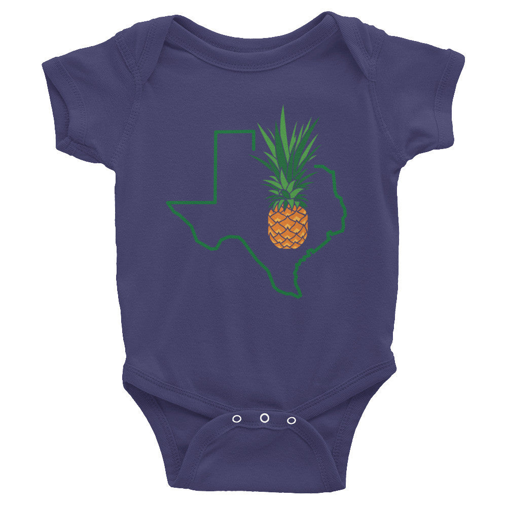 Texas Pineapple American Apparel 4001 Infant Baby Rib Onesie MORE COLORS