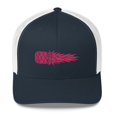 Hot Pink Pina on Navy/White Yupoong Retro Trucker MORE COLORS