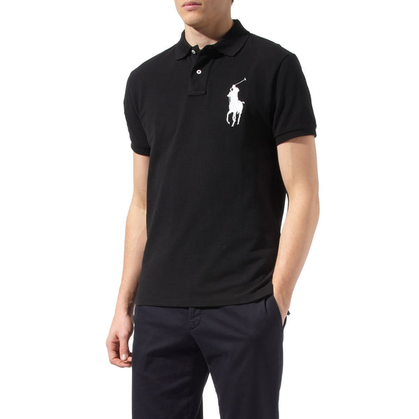 Ralph Lauren Big Pony Short Sleeved Mens Polo Shirt Black/White