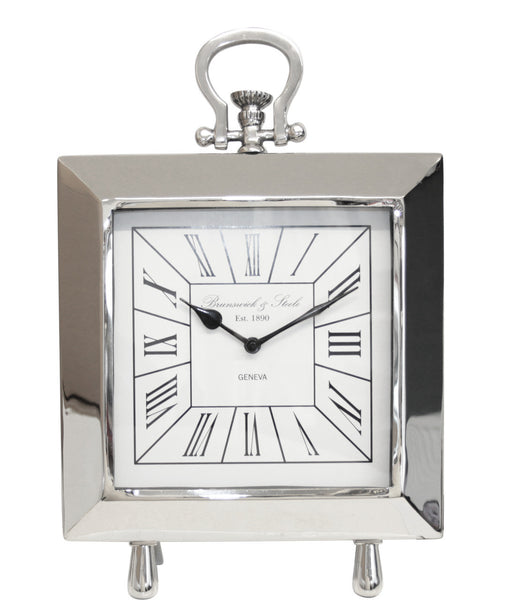 Nickel Portmanteau Table Clock