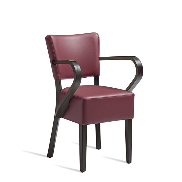 CLUB Arm Chair – ZA.393C – Wenge – Red