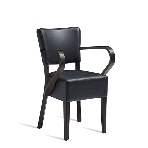 CLUB Arm Chair – ZA.396C – Wenge – Black