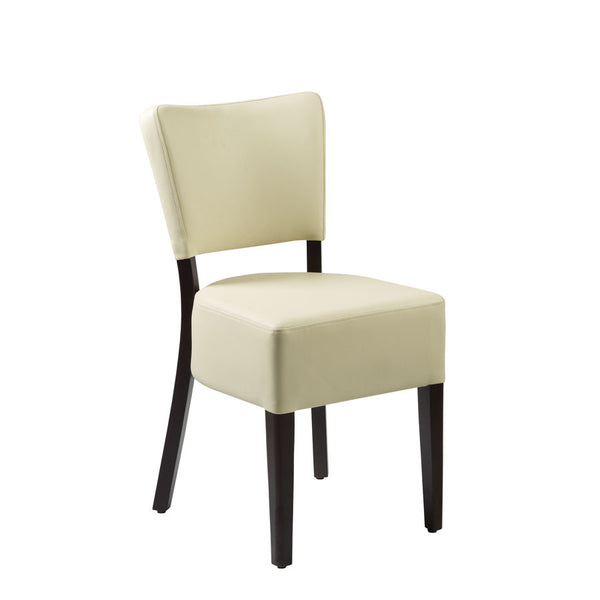 CLUB Side Chair – ZA.386C – Wenge – Cream