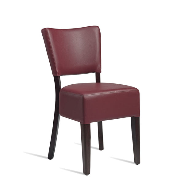 CLUB Side Chair – ZA.392C – Wenge – Red