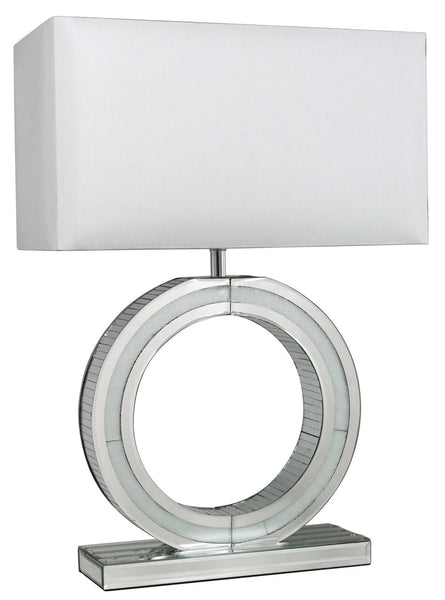 Diamond Crush 'O' Lamp With White Shade