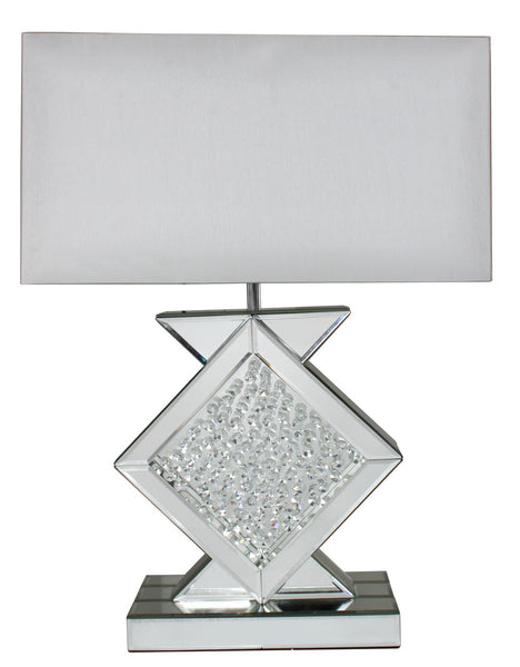 Mirror Astoria Table Lamp With Rectangular 17 Inch White Shade