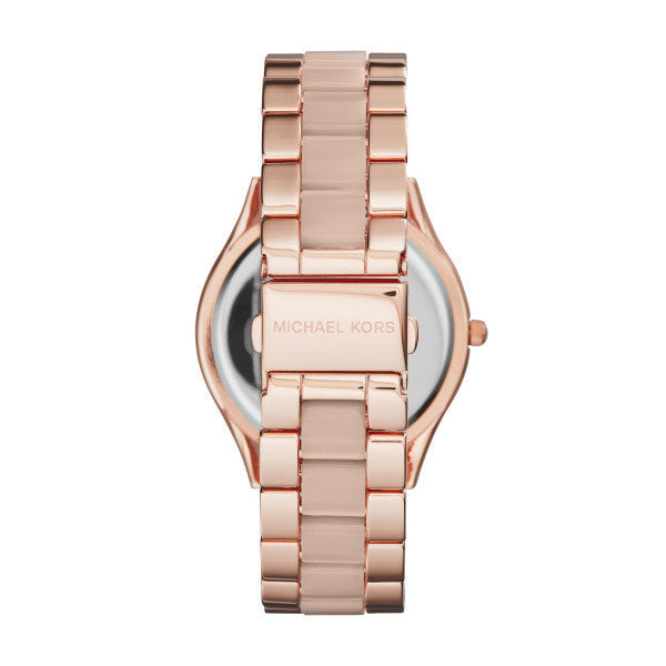 Michael Kors MK4294 Ladies Slim Runway Rose Gold Watch