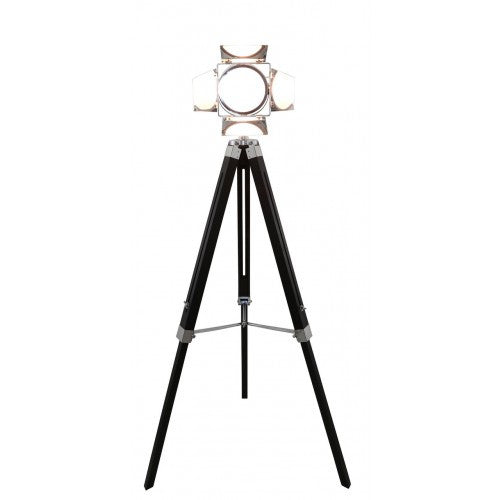Black Wood Photo Luminaire Tripod Floor Lamp