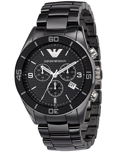 Emporio Armani AR1421 Mens Black Ceramica Watch