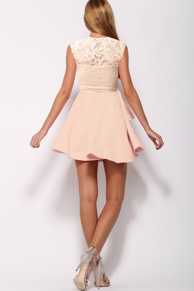 Surella Nude Lace Dress