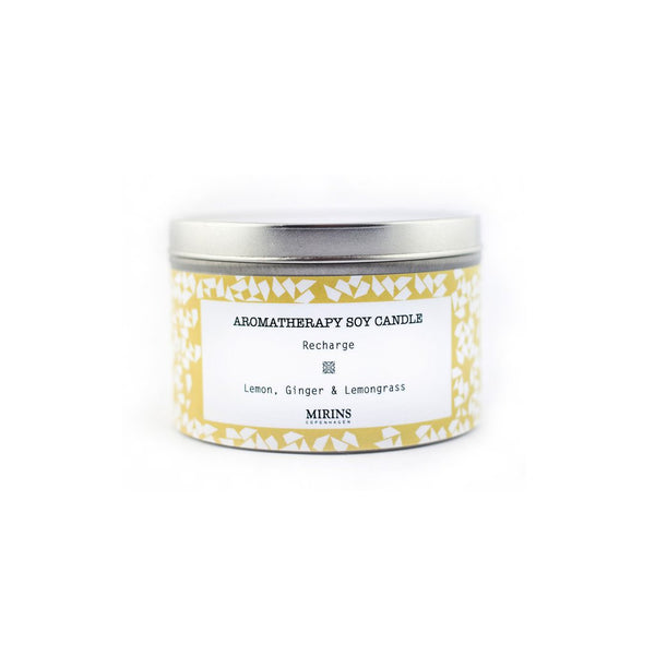 Soy Candle - Recharge - Lemon, Ginger & Lemongrass