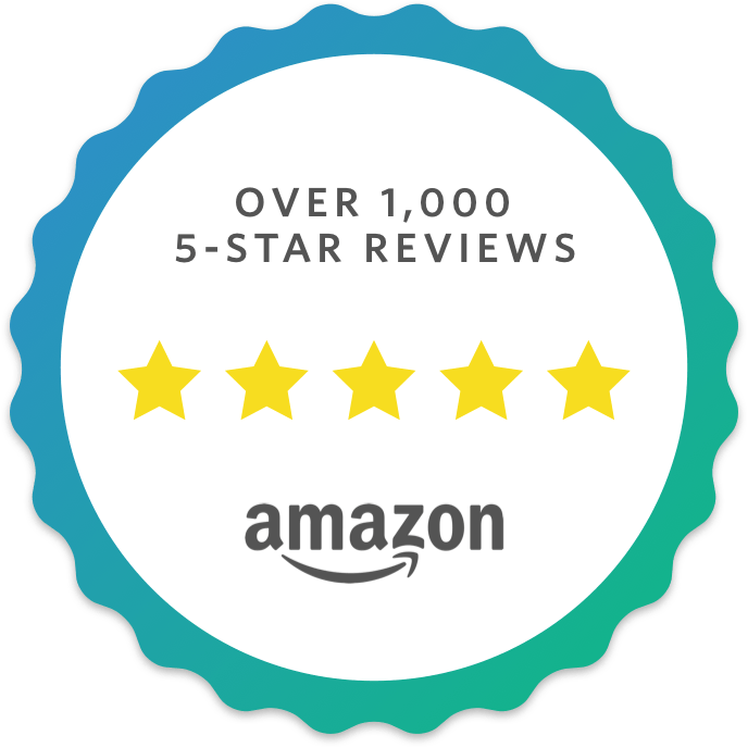 over 1000 reviews on amazon